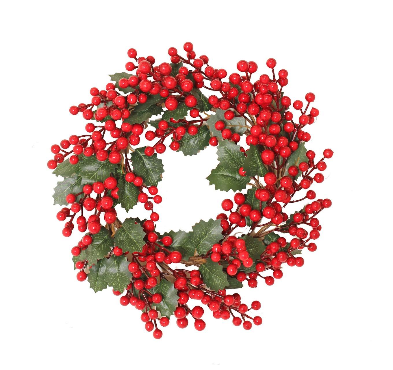 Holly Berry Wreath 40cm