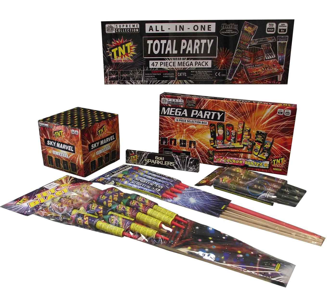 TNT FIREWORKS - Total Party - Party Box