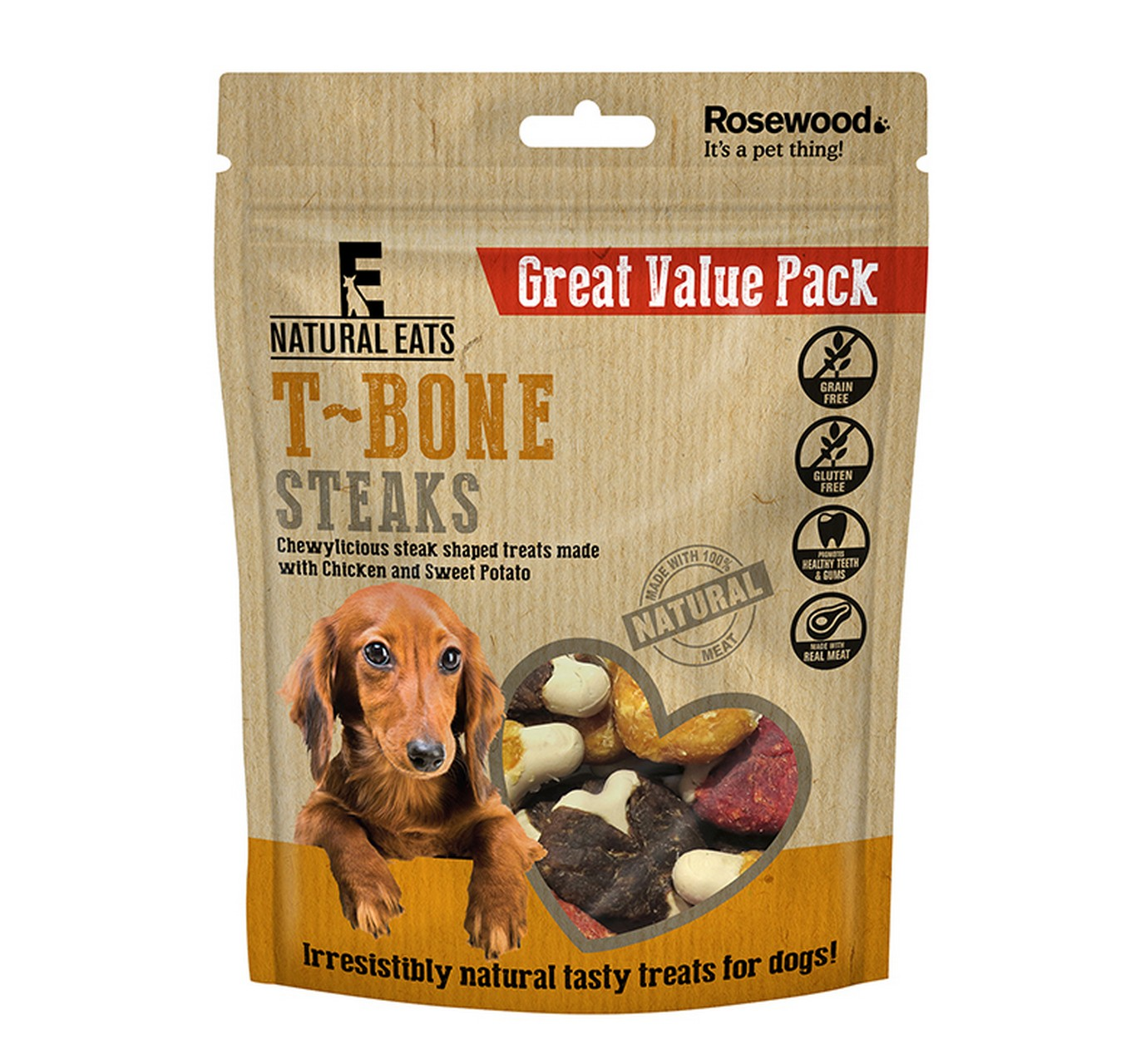 T-Bone Steak Treats 295g