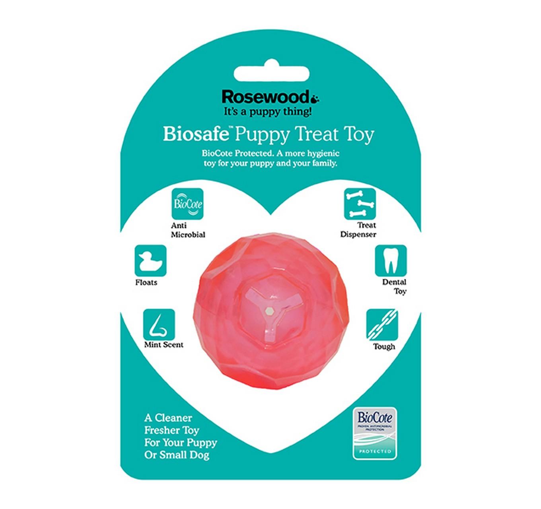 Biosafe Puppy Treat Ball- Pink