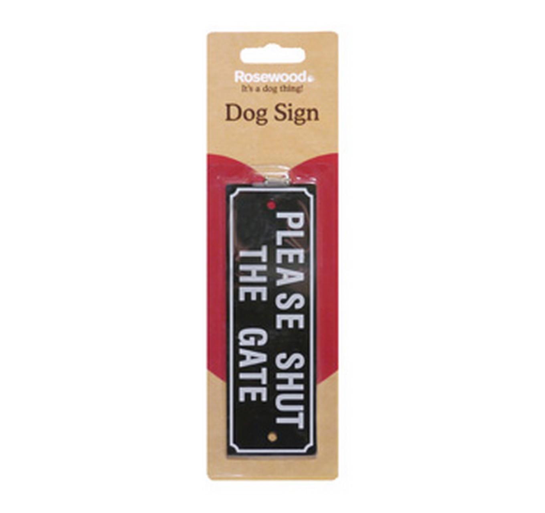 Dog Signs - Shut The Gate
