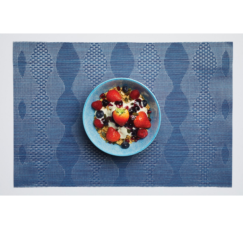 Blue & Red Mosaic Bowl 15.7cm