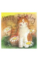 Birthday - Cat & Daisies