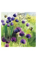 Alliums Birthday Card