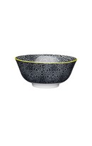 Black/White Floral Bowl 15.7cm
