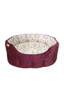 Classic Floral Cord Bed Plum M