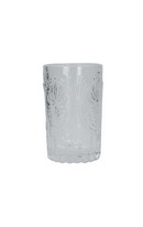 Embossed Glass Tumbler - Clear