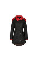Louise Wax Coat Red & Black 14